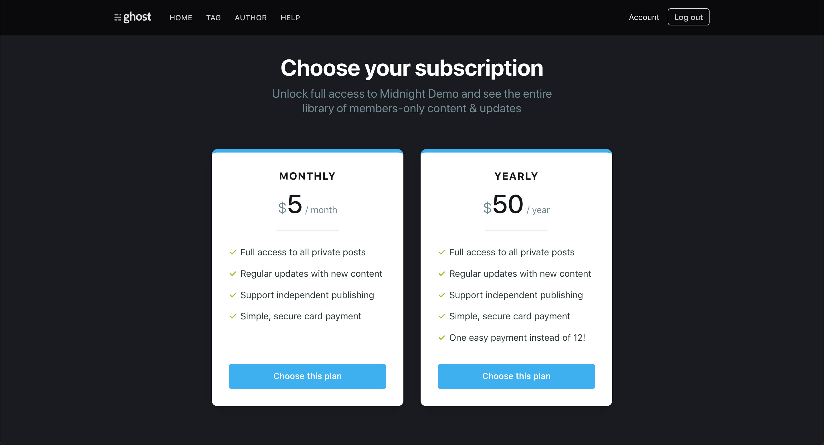 Ghost version 3 now offers subscriptions
